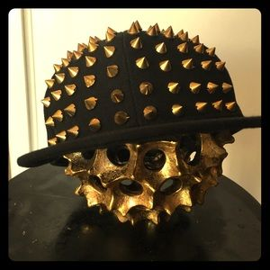 Bebe 2 SnapBack Hat with Gold spikes